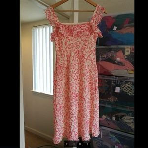 Ann TAYLOR LOFT Dresses - 100% SILK Ann Taylor Loft Floral red dress, New